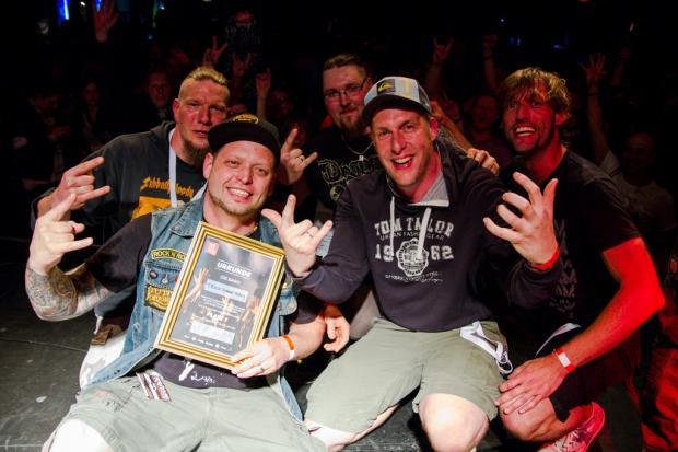 Die Metal-Band Track Down Tracy gewinnen das Emergenza-Regionalfinale im Mai in der Faust. (Foto: Torsten Gadegast) (Bild 3)
