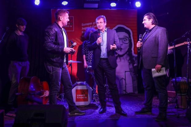 """""""Ohne scharfe Musik ist die IdeenExpo kaum denkbar"""", sagt Dr. Volker Schmidt (Bildmitte) im gemeinsamen Interview mit Andreas Kuhlage (links) und Hannover-Concerts-Chef Nico Röger (Bild 3)"""