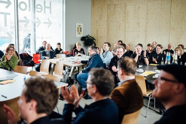 Musik.Szene.Wirtschaft: Unter diesem Motto trafen sich Ende Februar Musiker, Förderer und Vertreter aus Politik und Wirtschaft bei einem Dialogforum im Hafven in Hannovers Nordstadt. (Foto (c) Jan von Allwörden) (Bild 4)